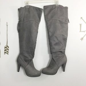 FIONA FAUX SUEDE KNEE-HIGH BOOTS